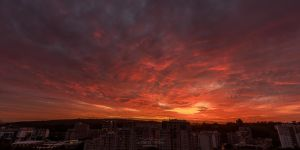 Fire Red Sky - Portugal, Lisbon by acseven