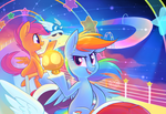 Rainbow Road: Double Dash by Hollulu