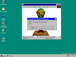 Ben Drowned Error Message by Wafflepal