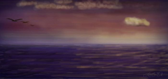 Sunset at sea by Marcauest