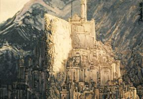Minas Tirith close-up by DavidDeb