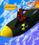 Deadpool and the NUKE!!! by Wessel