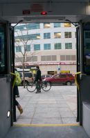 Through the Bus Doors 9 by bowtiephotography