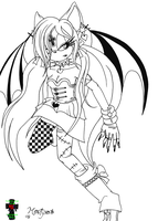 Venithy Sanguina :Lineart Com: by Martyna-Chan
