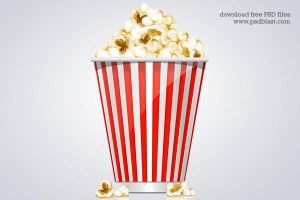 Popcorn Box Icon (PSD) by psdblast
