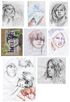 Sketchbook portraits by Dannayy
