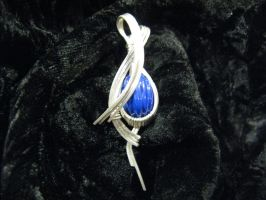 fluted lapis in argentium by DPBJewelry