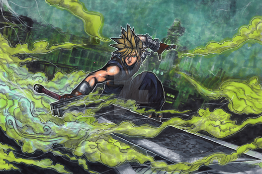 Smash Series: Cloud Storms Into Battle! by Pixelated-Takkun