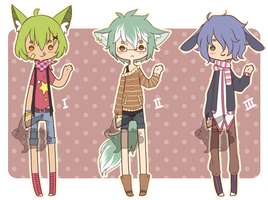 Adoptable Batch 1 [OPEN] by Moon--Rabbits