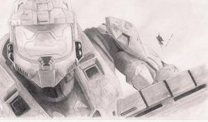 Master Chief Fanart Drawing by reggy66