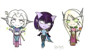 WoW Chibis by SweetnThimble