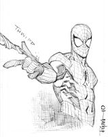 Spidey con sketch by RyanOttley