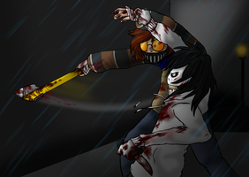 Ticci Toby vs. Jeff the Killer by Emmendal