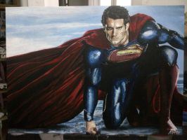 Man of Steel painting by Fandias