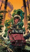 Jurassic Honeymoon Color by deankotz