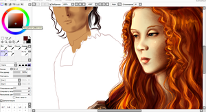 Cesare and Lucrezia WIP by MissFuturama