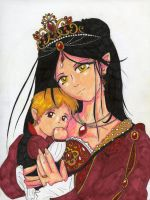Queen Natyalie and son Thalion by LadyJamie