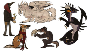 Special Stylized Commissions: batch 1 by BlackSeaFoam