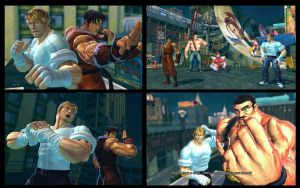 SF X TEKKEN Final Fight classic duo pack by monkeygigabuster