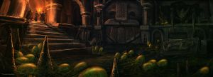 Giant grapes in a dwarven king's grave?! by Zerrnichter