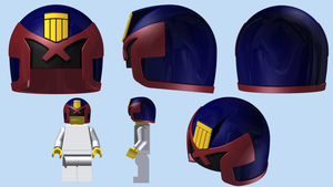 LEGO Judge Dredd Helmet by mingles