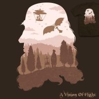 A Vision of Flight - tee by InfinityWave