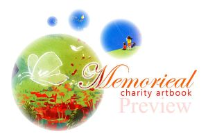 Memorieal Charity Artbook Preview by sehika