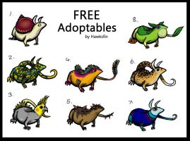 FULL- creature adoptables- FREE by hawksfin