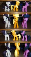 The finished ponies by OtakuSquirrel