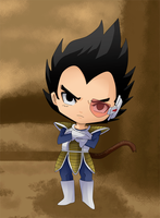 Vegeta by MoonlightTheWolf