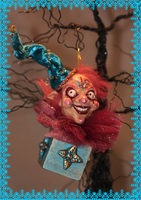 Crazy Clown Ornament by LabyrinthCreations