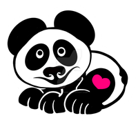 Panda Heart Sticker by sookiesooker