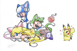 Cat Party! by Creation7X24