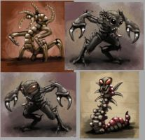 Creature Concepts by Scarecrovv
