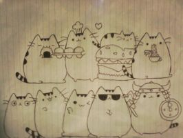So Many Pusheen by BlackShot96XD