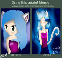 draw this again meme by KittyPony-Drawings