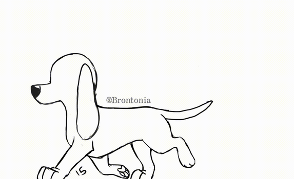 Animated Dog Trot Cycle by Brontonia