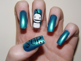 ChaoticMonki Nail Art 2 by DarkShadowChibi