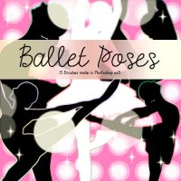 Ballet Poses Photoshop Brushes by Coby17