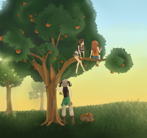 The Orange Tree by NeenBing