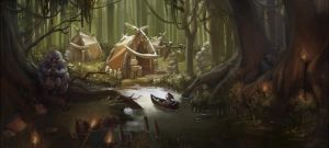 Forest environment by Noxiihunter