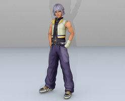 Riku DDD short hair mod by lonelygoer