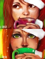 Christmas on dA (Improvement Meme) by Andreanable