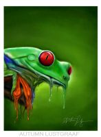 Ipad Drawing (Melting Frog) by Fallunleashed
