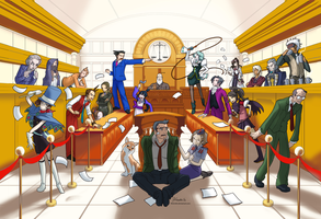 Phoenix Wright Group by hinoraito