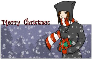 christmas card by xkiddo