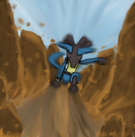 Lucario Earthquake by DarkShinyCharizard