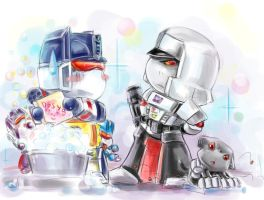 Chibi Megatron and Co by Aiuke