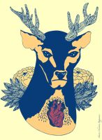 Stag Heart by CheekyStudio