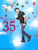 Tamer Hosny's Birthday (main) by MohamedZidanART
